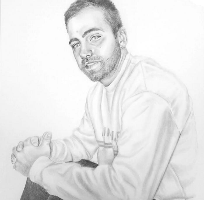 Retrato a Grafite sobre papel, 2019